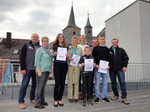 v. l. Günter Schill, Martina Weiß, Elisabeth Schörner, Kerstin Gesell, Theresa Stöcker, Tino Bayer, Günter Kaufmann, Mauritz Beck, Mattias Beck
