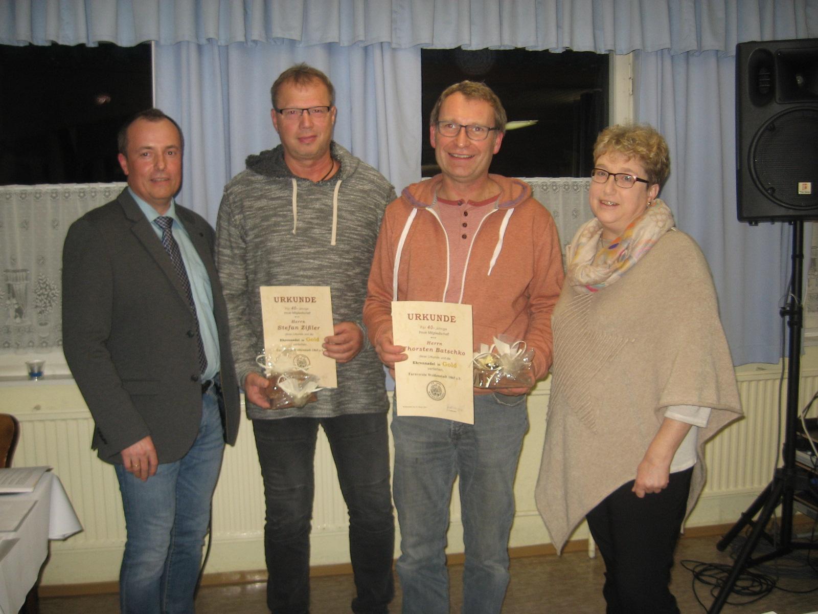 Ehrung für Langjährige Mitgliedschaft: ... Batschko und Stefan Zißler